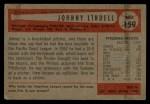 1954 Bowman #159  Johnny Lindell  Back Thumbnail