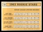 1963 Topps #169  Rookies  -  Gaylord Perry / Tommie Sisk / Dick Egan / Julio Navarro Back Thumbnail