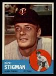 1963 Topps #89   Dick Stigman Front Thumbnail
