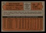 1972 Topps #265  Wes Parker  Back Thumbnail