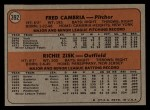 1972 Topps #392   -  Fred Camria / Richie Zisk Pirates Rookies   Back Thumbnail