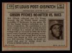 1972 Topps #430  In Action  -  Bob Robertson Back Thumbnail