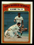 1972 Topps #224  1971 World Series - Game #2  -  Brooks Robinson / Mark Belanger Front Thumbnail