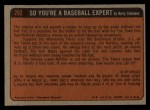 1972 Topps #292  In Action  -  Hal McRae Back Thumbnail