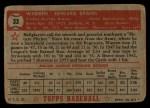 1952 Topps #33 RED  Warren Spahn Back Thumbnail