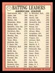 1969 Topps #1  AL Batting Leaders  -  Carl Yastrzemski / Danny Cater / Tony Oliva Back Thumbnail