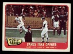 1965 Topps #132  1964 World Series - Game #1 - Cards Take Opener  -  Mike Shannon / Whitey Ford / Elston Howard Front Thumbnail