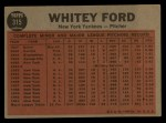 1962 Topps #315   -  Whitey Ford Ford Tosses a Curve Back Thumbnail