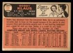 1966 Topps #108   Bobby Klaus Back Thumbnail