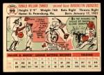 1956 Topps #99  Don Zimmer  Back Thumbnail