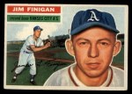1956 Topps #22   Jim Finigan Front Thumbnail
