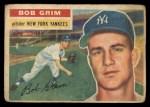 1956 Topps #52   Bob Grim Front Thumbnail