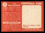 1958 Topps #71   Don Mcilhenny Back Thumbnail
