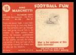 1958 Topps #16  Gino Marchetti  Back Thumbnail