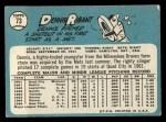 1965 Topps #73   Dennis Ribant Back Thumbnail