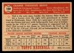 1952 Topps #150   Ted Beard Back Thumbnail