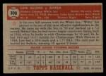 1952 Topps #308  Luis Aloma  Back Thumbnail