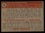 1952 Topps #125   Bill Rigney Back Thumbnail