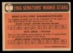 1966 Topps #11  Senators Rookies  -  Brant Alyea / Pete Craig Back Thumbnail
