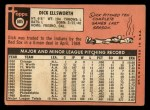 1969 Topps #605  Dick Ellsworth  Back Thumbnail