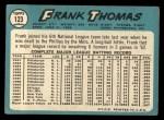 1965 Topps #123  Frank Thomas  Back Thumbnail