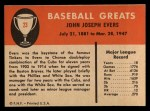 1961 Fleer #23   Johnny Evers Back Thumbnail