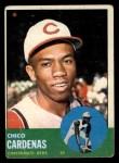 1963 Topps #203  Leo 'Chico' Cardenas  Front Thumbnail