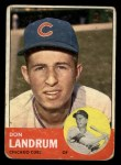 1963 Topps #113  Don Landrum's Card with Ron Santo's Picture  -  Don Landrum / Ron Santo Front Thumbnail