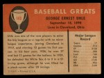 1961 Fleer #146   George Uhle Back Thumbnail