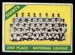 1966 Topps #19   Giants Team Front Thumbnail