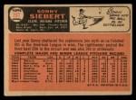 1966 Topps #197  Sonny Siebert  Back Thumbnail