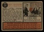 1962 Topps #220  Roy Sievers  Back Thumbnail