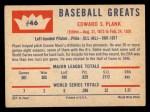 1960 Fleer #46   Eddie Plank Back Thumbnail
