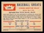 1960 Fleer #49  Ed Walsh  Back Thumbnail