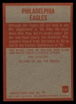1965 Philadelphia #127   Philadelphia Eagles  Back Thumbnail