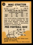 1967 Topps #29  Mike Stratton  Back Thumbnail