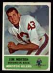 1962 Fleer #52  Jim Norton  Front Thumbnail
