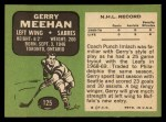 1970 Topps #125   Gerry Meehan Back Thumbnail