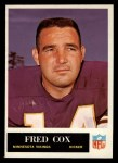 1965 Philadelphia #104  Fred Cox   Front Thumbnail