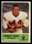 1962 Fleer #45   Charles Tolar Front Thumbnail
