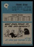 1964 Philadelphia #38  Frank Ryan     Back Thumbnail