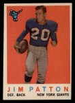 1959 #87  Jim Patton  Front Thumbnail