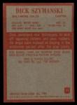 1965 Philadelphia #11  Dick Szymanski   Back Thumbnail