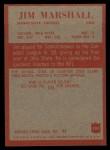 1965 Philadelphia #107   Jim Marshall  Back Thumbnail
