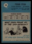 1964 Philadelphia #38  Frank Ryan     Back Thumbnail