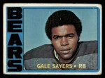 1972 Topps #110  Gale Sayers  Front Thumbnail