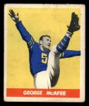 1948 Leaf #19 COR George McAfee  Front Thumbnail