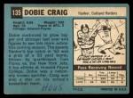 1964 Topps #135   Dobie Craig Back Thumbnail