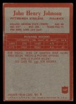 1965 Philadelphia #147  Joe Henry Johnson  Back Thumbnail