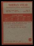 1965 Philadelphia #139   Norm Snead Back Thumbnail
